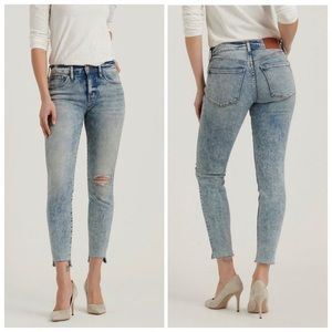 Lucky Brand Ava Mid rise skinny jeans acid wash